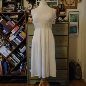 Vintage goddess white slip, lace and embroidery